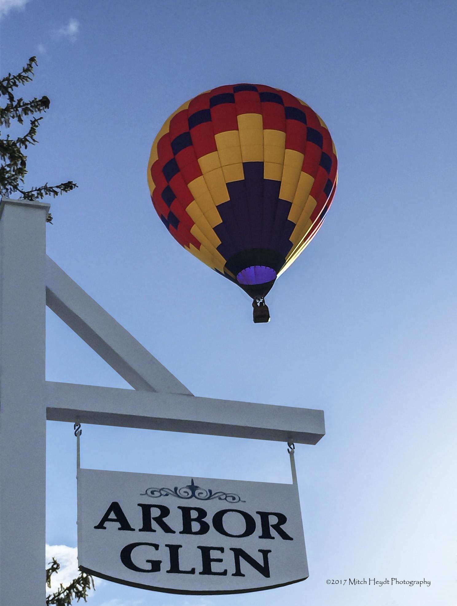 Arbor Glen Sign-2-Hot Air Balloon